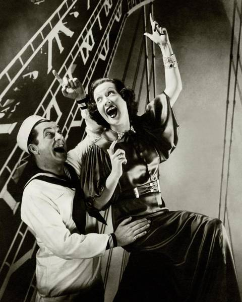 Gesture Photograph - Ethel Merman And William Gaxton by Edward Steichen
