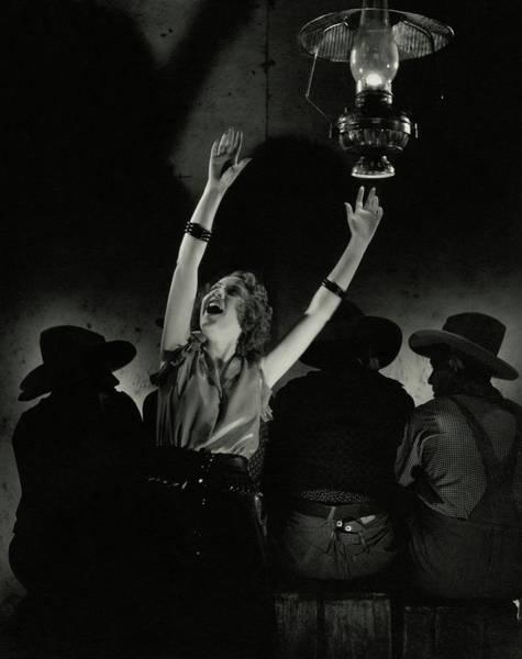 Night Photograph - Ethel Merman In The Play Girl Crazy by Edward Steichen