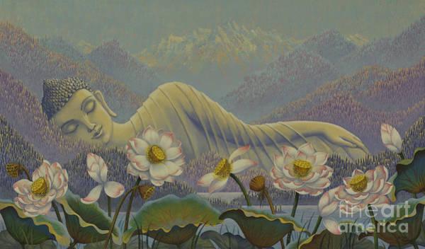 Wall Art - Painting - Ethereal Buddha by Yuliya Glavnaya