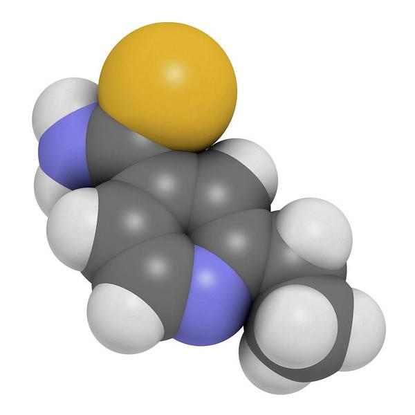 Pharma Wall Art - Photograph - Ethionamide Tuberculosis Drug Molecule by Molekuul