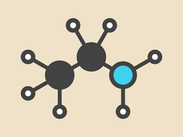 Ethylamine Organic Base Molecule Art Print