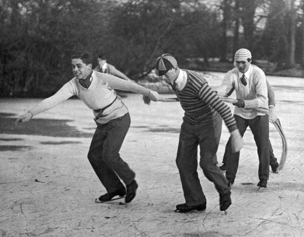 Skater Photograph - Eton College Holiday On Ice by Underwood Archives
