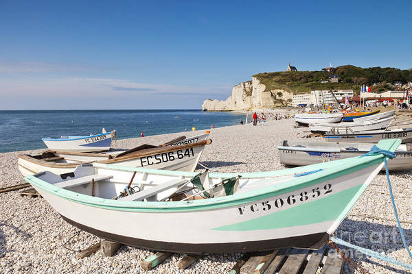 Etretat Photograph - Etretat Beach And Boats by Colin and Linda McKie