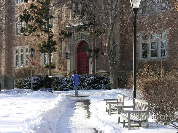 Muhlenberg Photograph - Ettinger Red Door In Snow by Jacqueline M Lewis