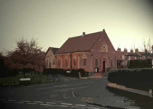 Wall Art - Drawing - Etwall Methodist Church, Situated On Willington Road by Litz Collection