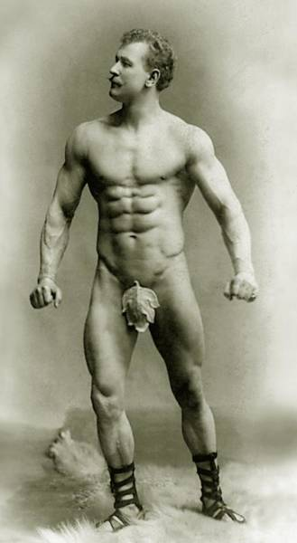 Wall Art - Photograph - Eugen Sandow In Classical Ancient Greco Roman Pose by American Photographer