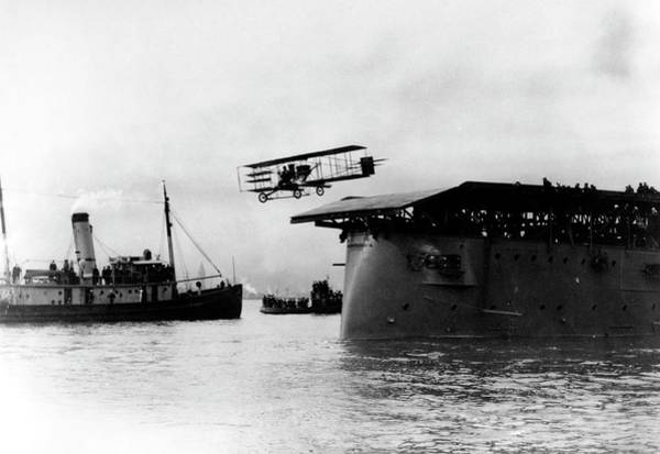1911 Photograph - Eugene Ely Taking Off From Uss Pennsylvania by Us Navy/science Photo Library