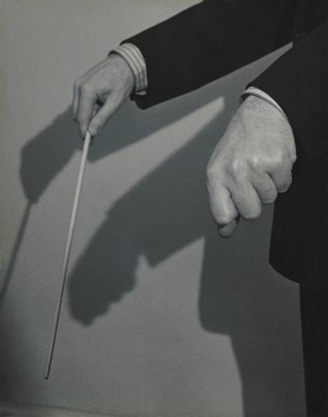 Male Body Photograph - Eugene Ormandy's Hands by Herbert Matter