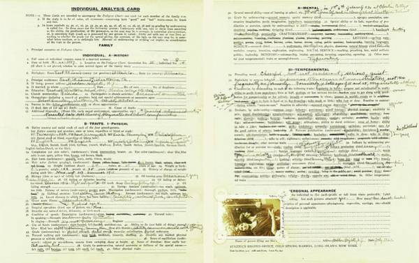 Controversial Photograph - Eugenics Data Collection by American Philosophical Society