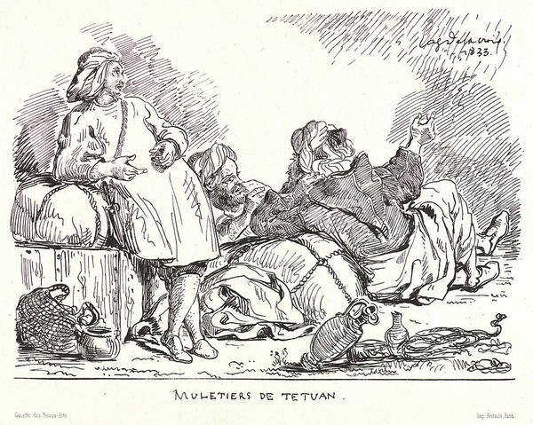 Wall Art - Drawing - Eugène Delacroix French by Litz Collection