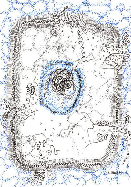Double Helix Painting - Eukaryotic by Regina Valluzzi