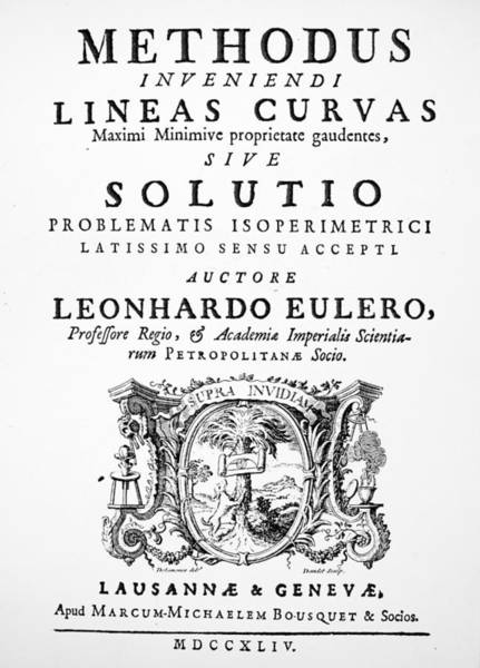 Painting - Euler Title-page, 1744 by Granger
