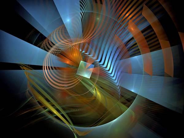Dive Bar Digital Art - Eunomia-center-panel-1bb by Bill Campitelle