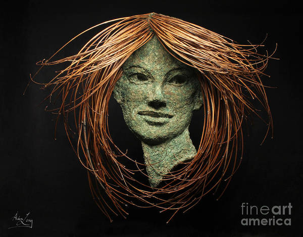 Twig Mixed Media - Euphrosyne Of The Three Graces by Adam Long