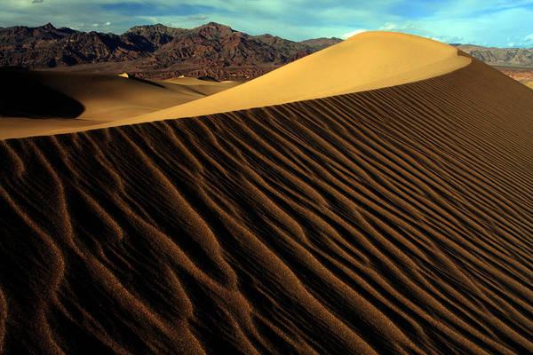 Spider Rock Photograph - Eureka Sand Dunes by Kenan Sipilovic