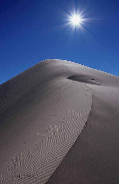 Great Sand Dunes National Park Photograph - Eureka Valley Sand Dunes With Sun by Karl Lehmann