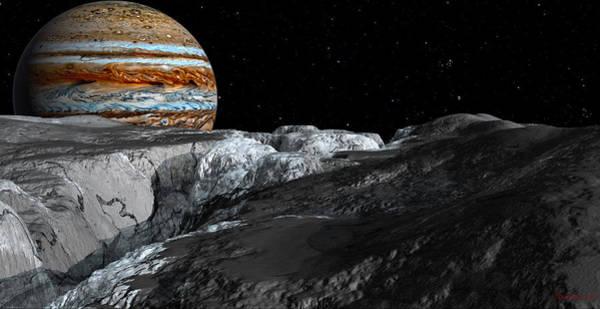 Digital Art - Europa Icefields by David Robinson