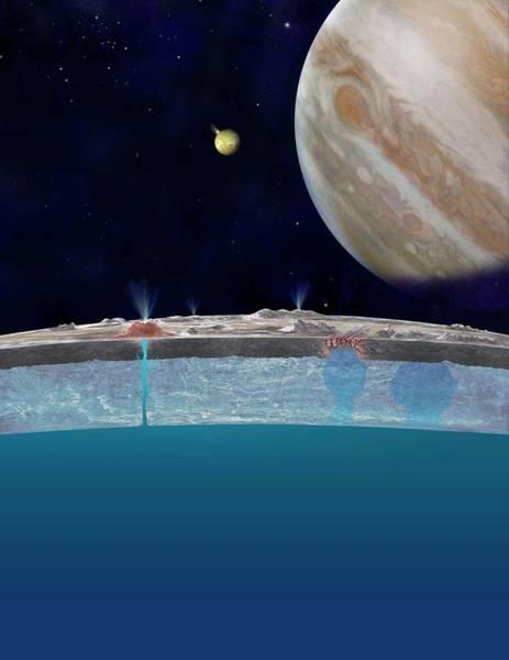 Astrophysical Wall Art - Photograph - Europa's Surface Ocean by Nasa/jpl-caltech