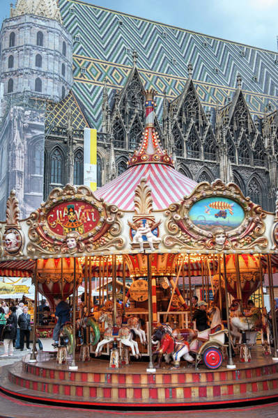 Glazed Tiles Photograph - Europe, Austria, Vienna, Carousel, St by Jim Engelbrecht