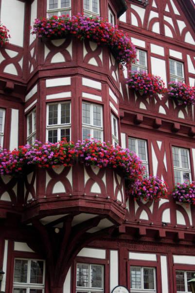 Window Box Photograph - Europe, Germany, Miltenberg by Jim Engelbrecht