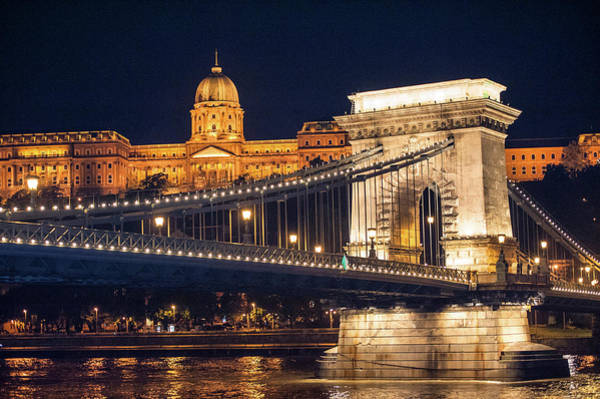 Chain Bridge Photograph - Europe, Hungary, Budapest, Chain by Jim Engelbrecht