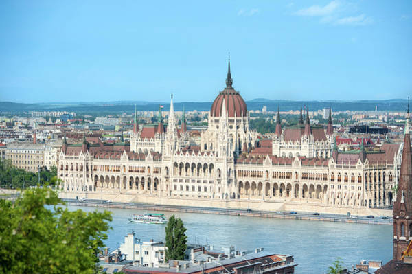 Parliament Building Photograph - Europe, Hungary, Budapest, Parliament by Jim Engelbrecht