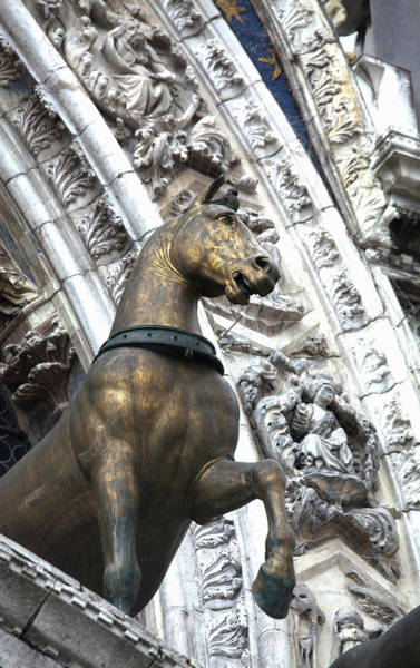 European Union Photograph - Europe Italy Venice Horse Statue On San by Terry Eggers