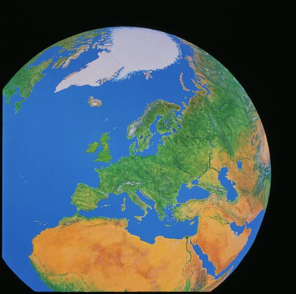 Wall Art - Photograph - Europe by Julian Baum & David Angus/science Photo Library