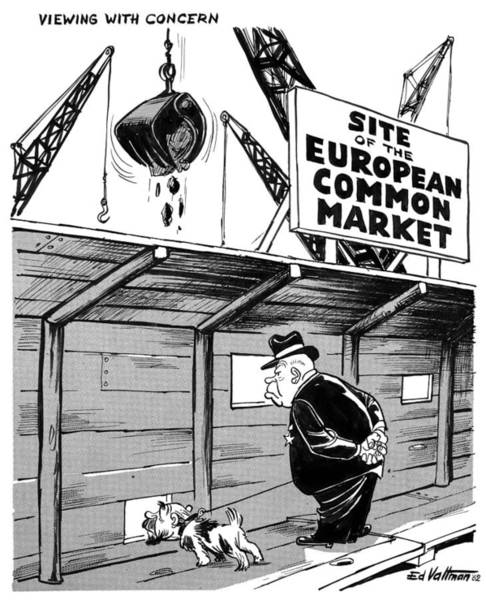 Drawing - European Common Market, 1962 by Edmund Valtman