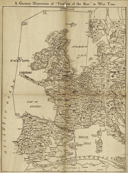 Restriction Photograph - European Naval Restrictions by Library Of Congress, Geography And Map Division