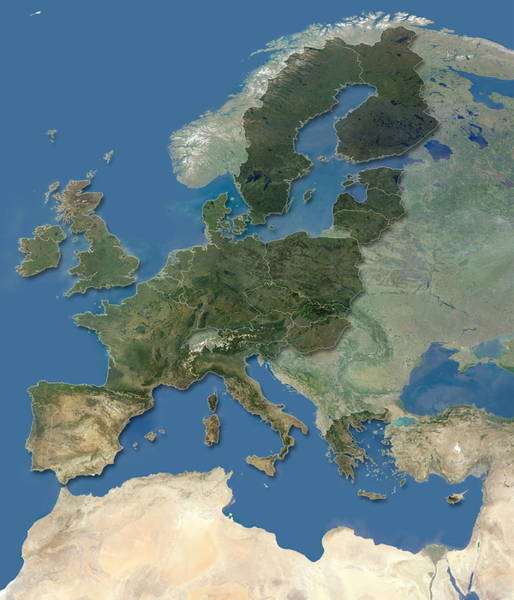 European Union Photograph - European Union From May 2004 by Planetary Visions Ltd/dlr/science Photo Library