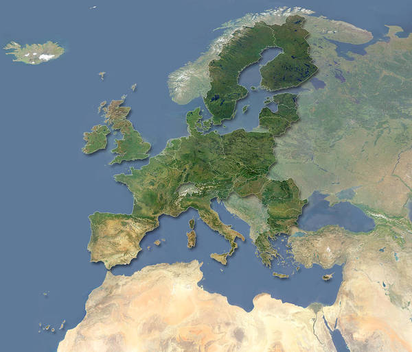 European Union Photograph - European Union by Planetary Visions Ltd/dlr/science Photo Library