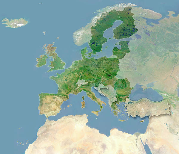 European Union Photograph - European Union by Planetary Visions Ltd/science Photo Library