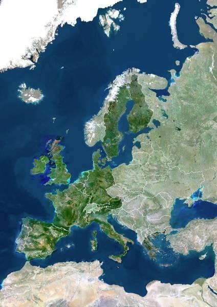 European Union Photograph - European Union by Planetobserver/science Photo Library