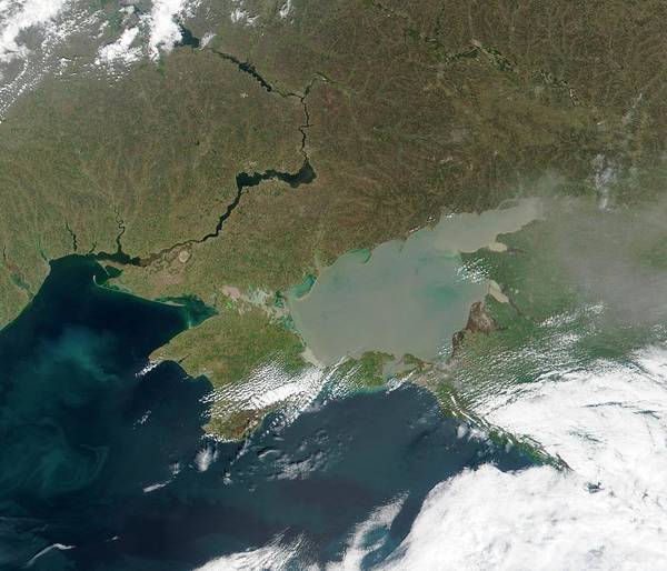 Dnieper Photograph - Eutrophication In The Sea Of Azov by Nasa/science Photo Library