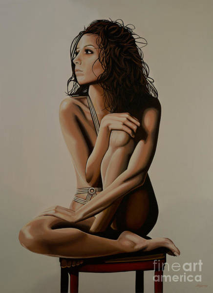 Wall Art - Painting - Eva Longoria Painting by Paul Meijering