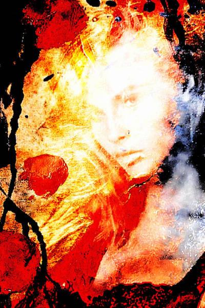Blondie Digital Art - Evanescent Face by Andrea Barbieri