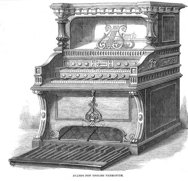 Wall Art - Drawing - Evans's New English Harmonium by  Illustrated London News Ltd/Mar