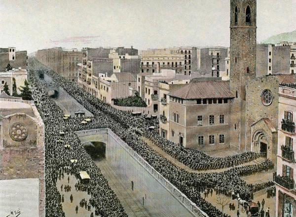 Procession Photograph - Evaristo Arnaus Y De Ferrer (1820-1890 by Prisma Archivo