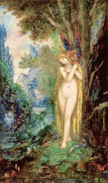 Angel Oak Painting - Eve by Gustave Moreau