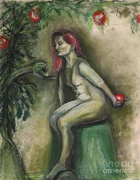 Eve In The Garden  Art Print