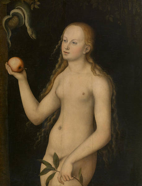 Adam And Eve Wall Art - Painting - Eve by Lucas Cranach