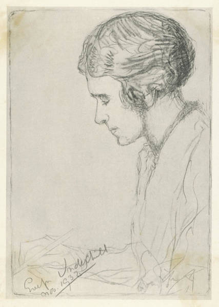 The Mystic Drawing - Evelyn Underhill (1875 - 1941) Mystic by Mary Evans Picture Library