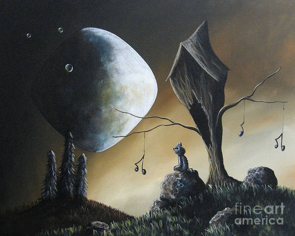 Wall Art - Painting - Even Cats Have Strange Dreams By Shawna Erback by Erback Art