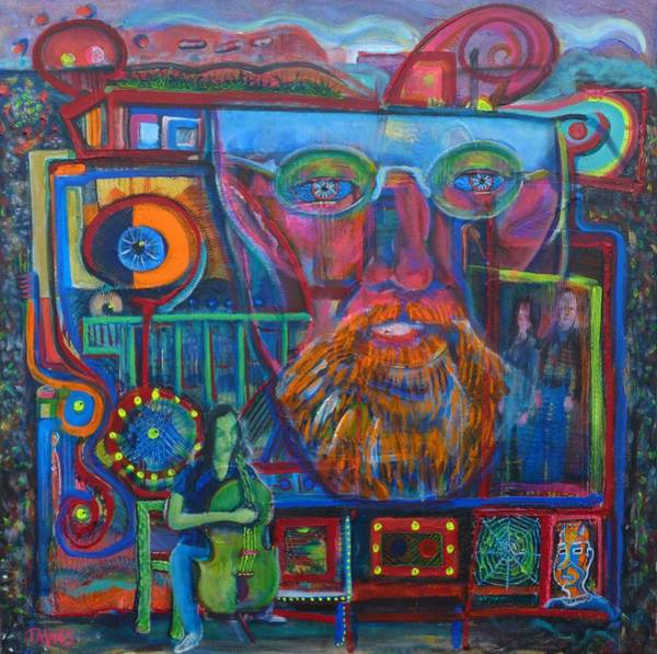 Painting - Even Chaos Has Room For Cello by Dennis Tawes