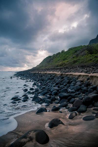 Photograph - Evening Arrives At Kalalau 2 by Tim Newton
