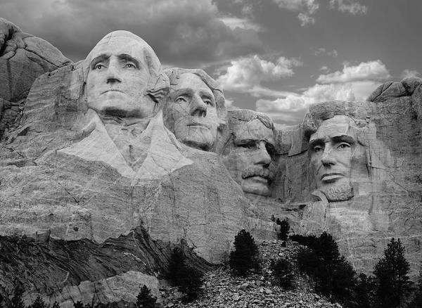 Rushmore Photograph - Evening At Mt. Rushmore  by Merja Waters