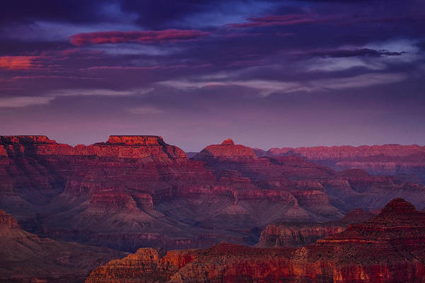 South Rim Photograph - Evening At The Grand Canyon by Andrew Soundarajan