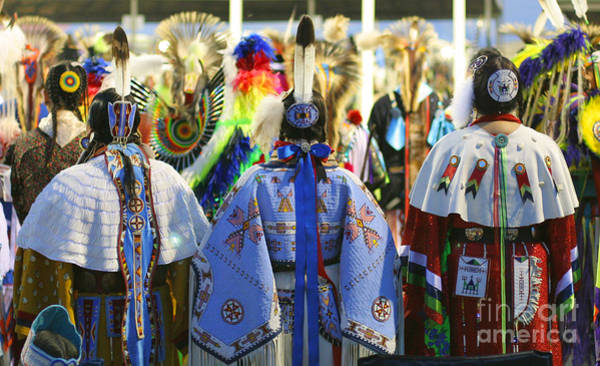 Powwow Wall Art - Photograph - Evening At The Wacipi by Heidi Hermes