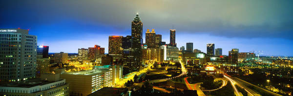 Rise Above Wall Art - Photograph - Evening Atlanta Ga by Panoramic Images